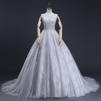 New Designer 2019 Ball Gown Party Dress Gestante Champagne Evening Dresses Crop Top Prom Party Dress Evening Dress (ASA 020)