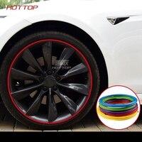 Decoration Strip Wheel Rim Protector Ring Wheel Anti Collision Strip Tire Edge Changer Guard for Tesla model X