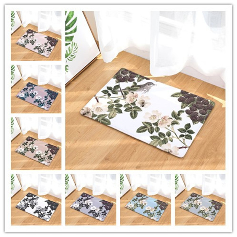 2017 hot sale New Anti- Slip Welcome Floor Mats Cute flower Hallway Kitchen Rug Decoration Stair Carpets Light Thin Crafts Rugs