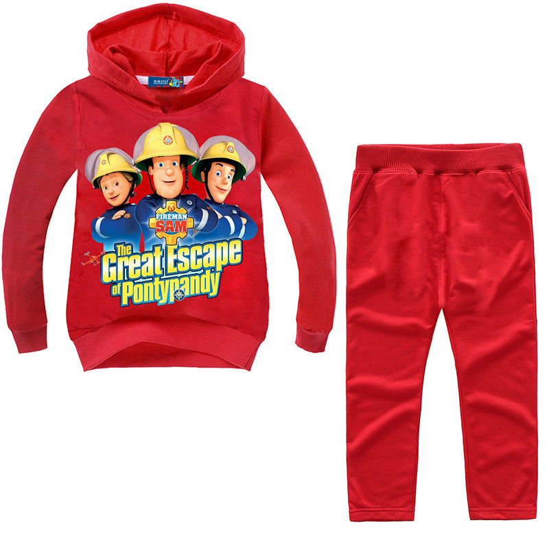 Back To Search Resultsmother & Kids Drop Shipping Kids Fireman Sam Clothing Sets Boy Girls Long Sleeve Sweatshirt Pant Suit Children Clothes Set For Tracksuit Tz009