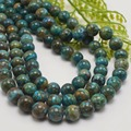 Estoque venda natural crisocola/quantum quattro soltas em torno beads 8mm