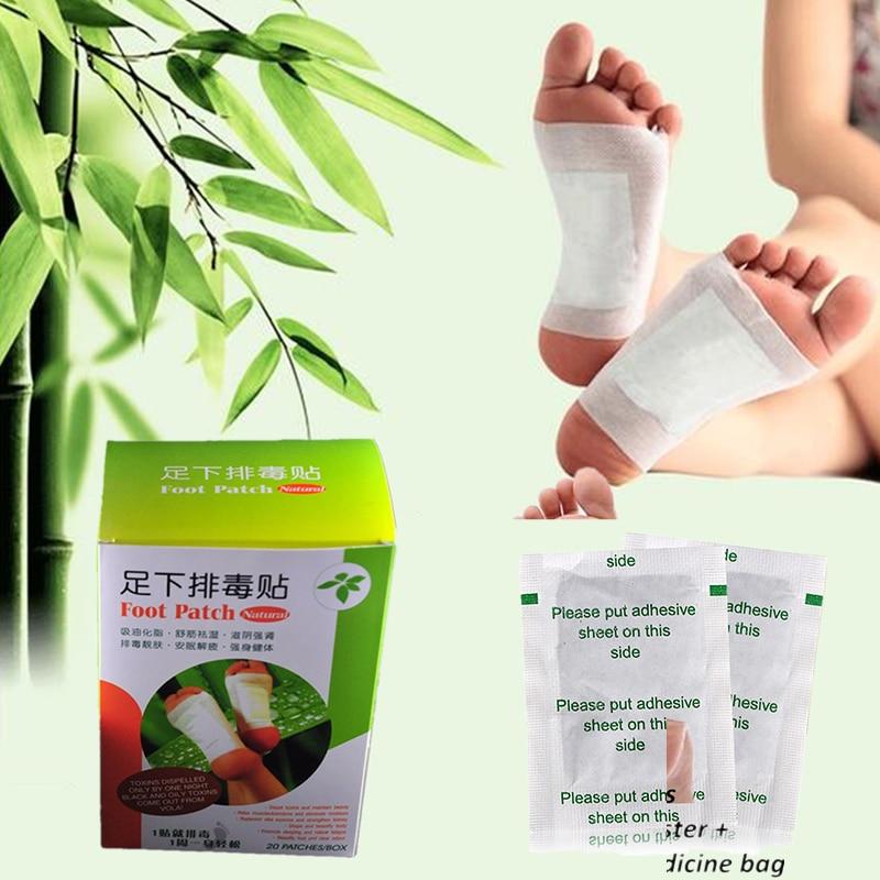 20Pcs = 1Box Bangdeli Detox fotplåster ZB detox pads för fötter kropp rengöringsplåster fotvårdsprodukt