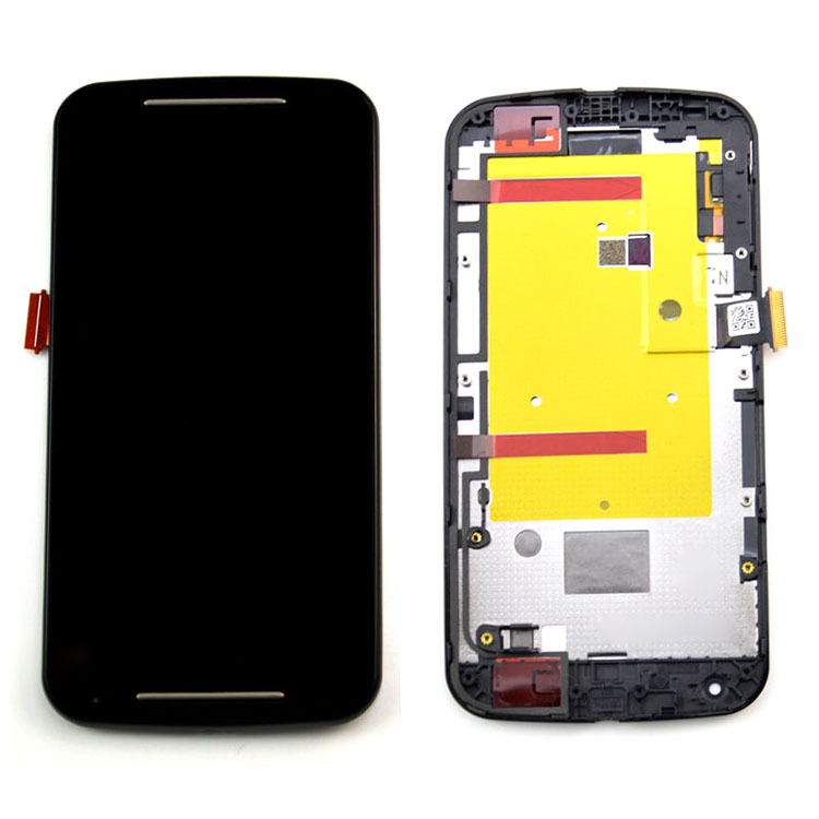 ФОТО Black Assembly+Frame For Motorola Moto G 2nd G2 Gen XT1063 LCD Screen Display Digitizer Touch