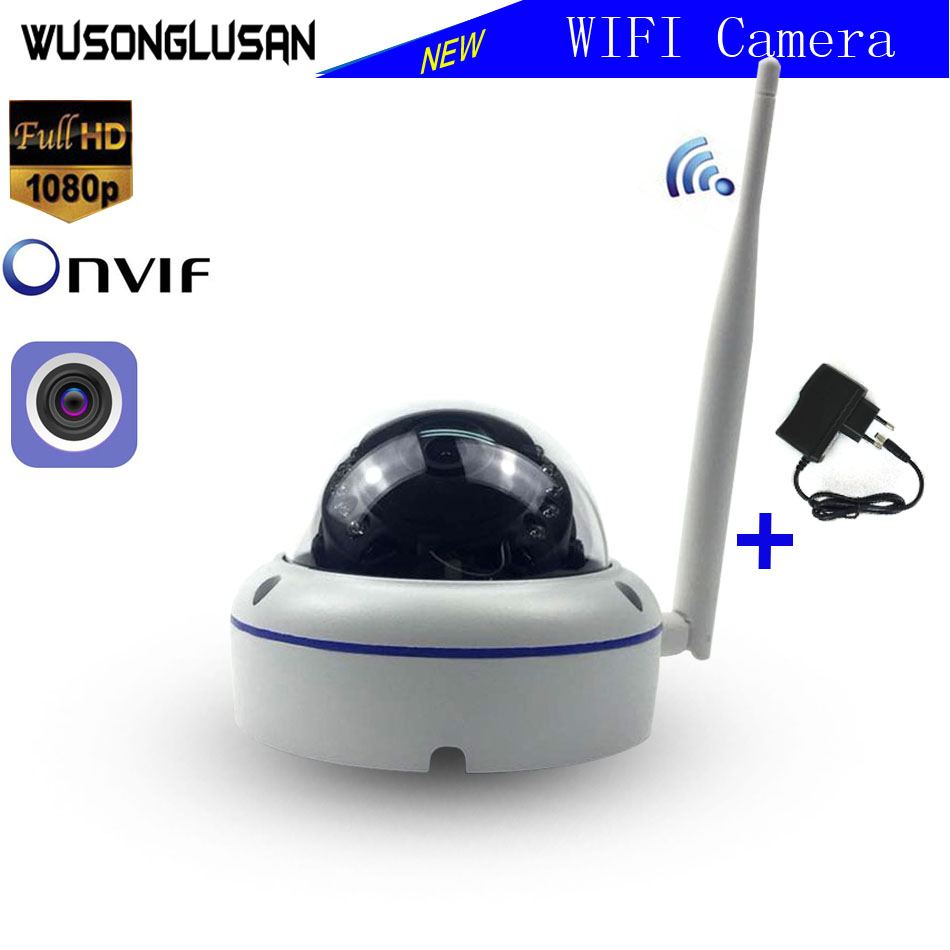 Wifi IP Outdoor Dome Security Camera Wireless 720P 1080P SONY CMOS Onvif SD Card Slot 64G P2P IR Cut CCTV Home Security Camera