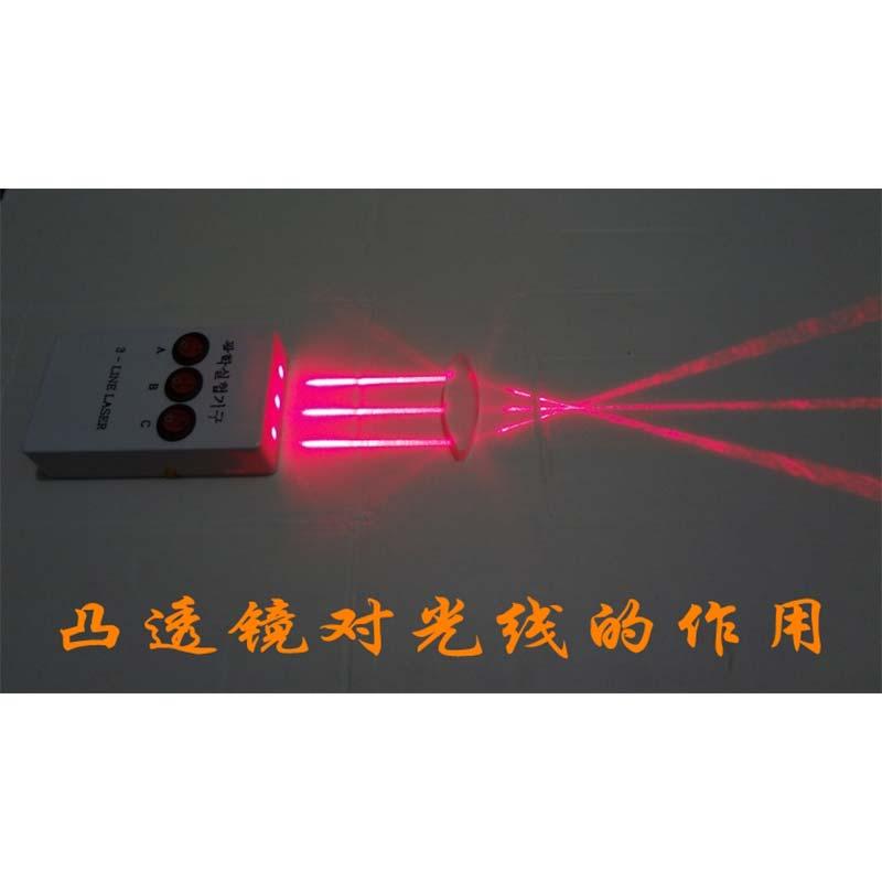 triangular laser luzes convexo lente côncava conjunto