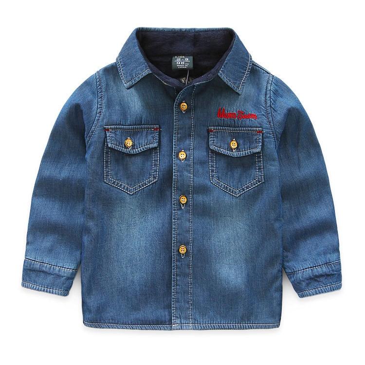 Retail next 2016 autumn boy baby s font b shirts b font with velvet handsome warming