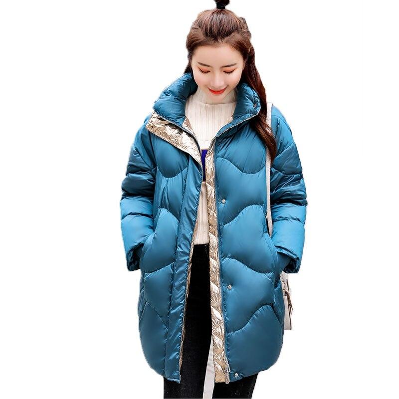 2019 mode Brot Mantel Frauen Winter Plus größe Jacke Warme Daunen Baumwolle Gepolstert Mantel Parkas Hohe Qualität Bomber Streetwear 863-in Parkas aus Damenbekleidung bei  Gruppe 1