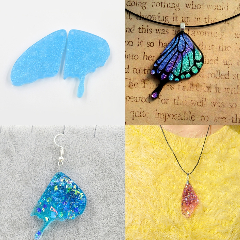 Wing Silicone Mould DIY Craft Mold Fr Resin Necklace Jewelry Pendant Making Tool