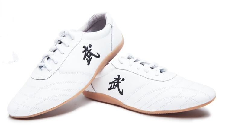 Pure Leather Tai Chi Shoes Wushu Kung Fu Shoes Unisex