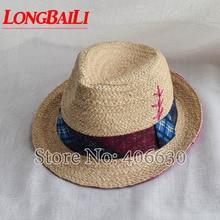LongBaiLi Summer Women Fashion Raffia Straw Fedora Hats Chapeau Jazz Trilby Caps SWDS067