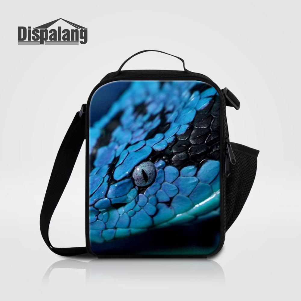 Мужские Термо-холщовые сумки для ланча, лисы, волка, динозавра, змеи, для мальчиков, сумка-холодильник для еды, пикника, Детская маленькая сумка-Ланч-бокс на молнии для школы - Цвет: Lunch Bag03