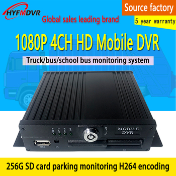 AHD HD 200 megapixel 1080P1-4 channel local monitoring SD card system host Mobile DVR heavy machinery / travel car / taxi image