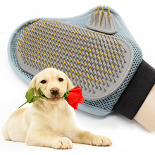 Pet Bath Brush Shaggy Dog Massage Glove TPR Brushes for Dogs Pet Cleaning Tool Comfort Massage Brush Gloves Pet Bathing Products