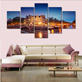 5 Pieces/set Amsterdam Building Modern Home Wall Decor Canvas Picture Art HD Print Painting On Canvas Artworks