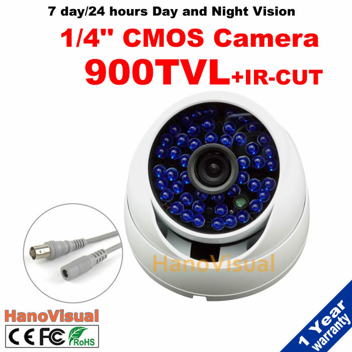 ФОТО 900TVL 960H With IRCUT Filter Dome CCTV Camera Waterproof/Vandal-proof 48LEDS IR Surveillacne Camera 3.6mm Lens Security Camera