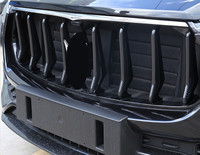 Carbon Fiber Style Front Grille Bumper Trim Strips For Maserati Levante 2016 Gloss Black Car Parts 8pcs/set
