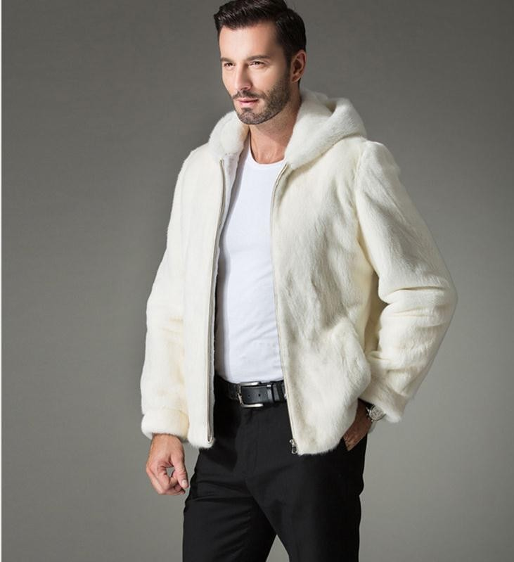 Popular White Mink Coat Men-Buy Cheap White Mink Coat Men lots ...