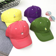7d84bb274c2 Japanese Ins Fruits Series Baseball Hat Men And Women Lovers Korean Sweet  Lovely Embroidery Soft Top Peaked Cap Student