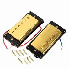 Gold 1 set Double Coil Humbucker Pickup Set for ETC Guitar Replacement