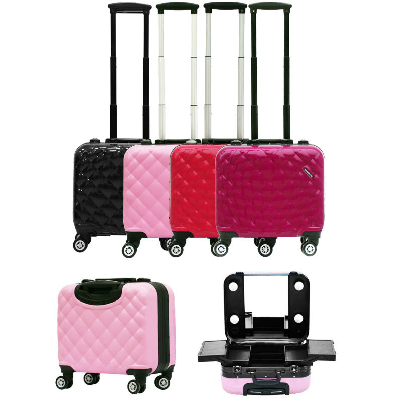 Us 253 98 49 Off 2017 New Travel Makeup Case With Lights Lighted Beauty Box Bag Trolley 4 Colors In Hardside Luggage From Bags On