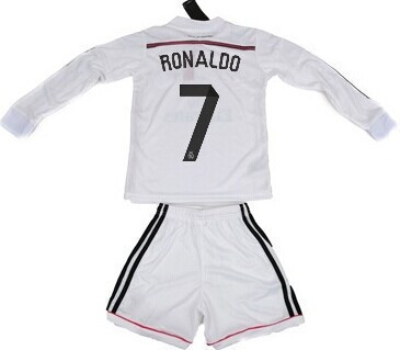 41c432d2fea 50% off kit 2014 2015 have . real madrid white home long sleeve soccer  jersey