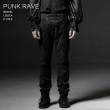 New Punk Rave Goth Fashion Retro Rock Party Visual Kei Top Men Pants K193 M-3XL