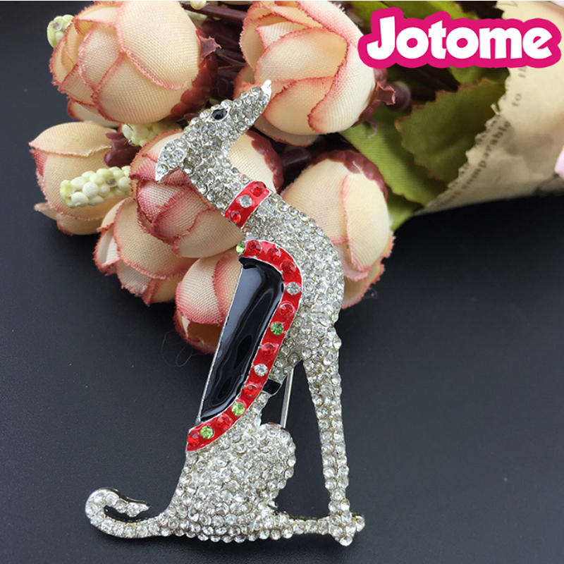 50/100 pièces gros strass chiot canin/Borzoi Hound/Scotty Greyhound chien Animal broches pin pour cadeau