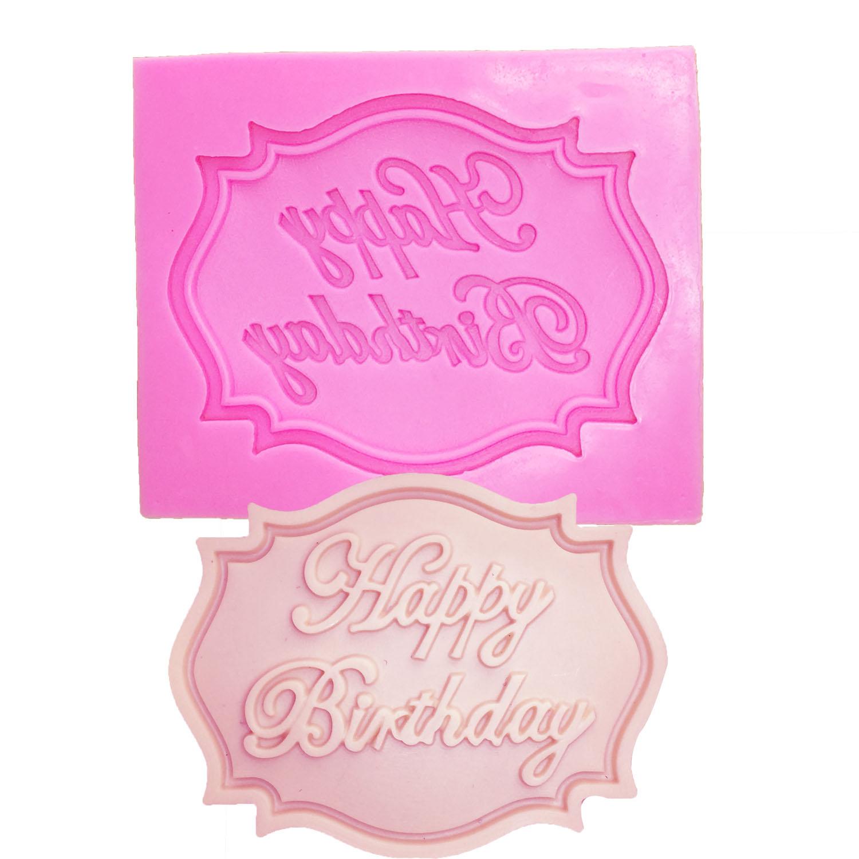 M0070 Feliz Cumpleaños forma de Carta de silicona molde fondant de - Cocina, comedor y bar - foto 1