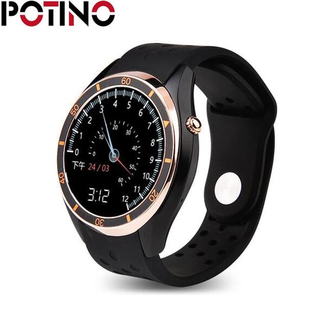 82b9aa98a47 MTK6580 POTINO I3 Android Smartwatch Telefone 3G WiFi GPS Relógio  Inteligente 512 MB 4 GB Pedômetro