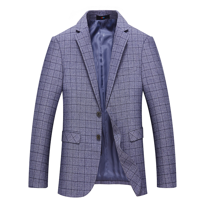 2018 spring and summer new youth business casual suit jacket Blazers men, fashion wild self-cultivation Plaid single suit male