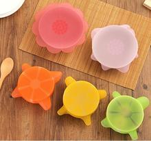 цены на 6PCS/SET Silicone Stretch Lids Keep Fresh Food Saran Wrap Seal Cup Bowl Cover Lids Wraps Silicone Cover fresh food preservation в интернет-магазинах