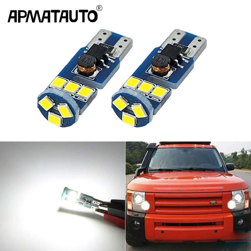 Apmatauto 2x Car T10 w5w 194 for Sumsung chips Clearance light For Land Rover v8 discovery 4 2 3 x8 freelander 2 defender A8 a9