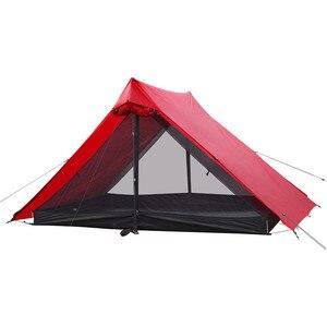 Image 2 - Die Kostenloser Geistern Libra Zelt 20D silnylon 2 Person Oudoor Ultraleicht Camping Zelt 3 Saison Professionelle Kolbenstangenlosen Zelt