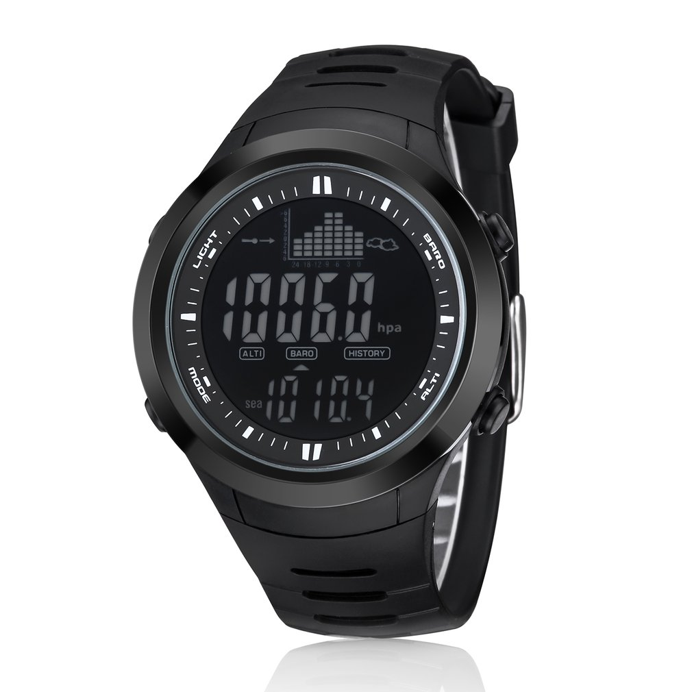 Outdoor Fishing Altimeter Barometer Thermometer Altitude Digital Watches Clock Climbing Hiking Sports Watch Montre Homme outdoor multifunction digital fishing barometer waterproof fishing watch barometer altimeter thermometer sports watch 6 colors