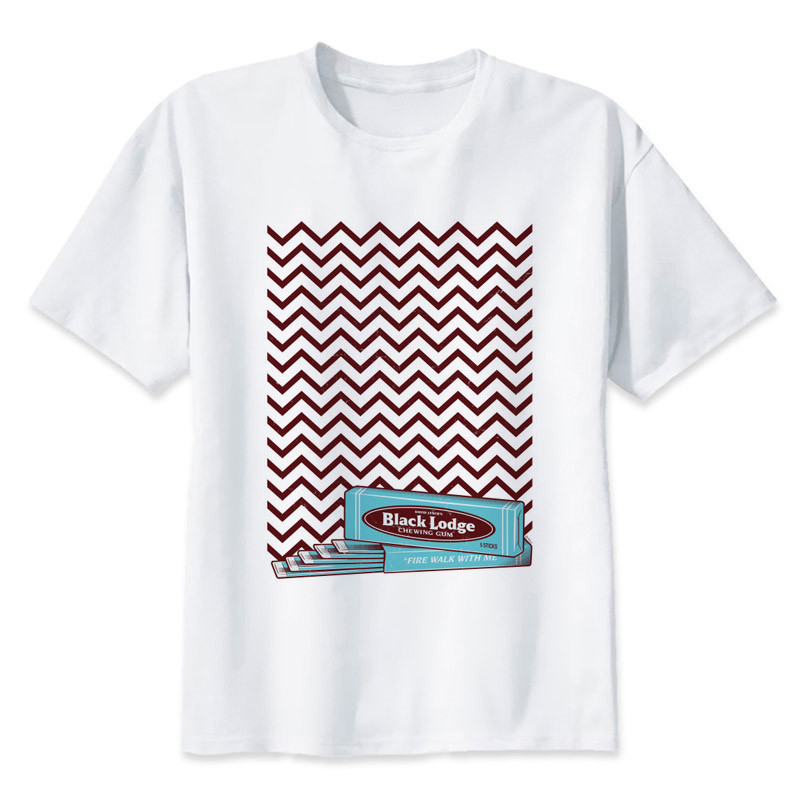 twin peaks 2018 New Fashion T-Shirt Men Brand Sleeve Patchwork O-Neck T Mens Casual Hip Hop T Shirt Male Size M-5XL mr2553