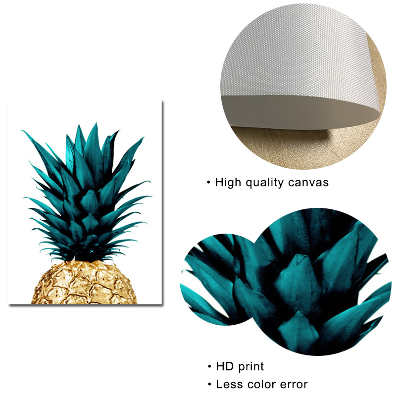 Nordic Tropical Palm Leaves Canvas Painting Pineapple Posters and Prints Decor