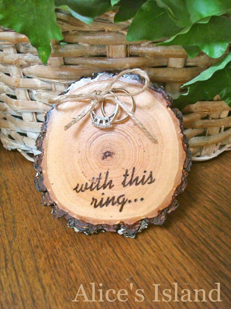 12 pcslot natural wooden circular table number card wooden ring holder vintage rustic wedding