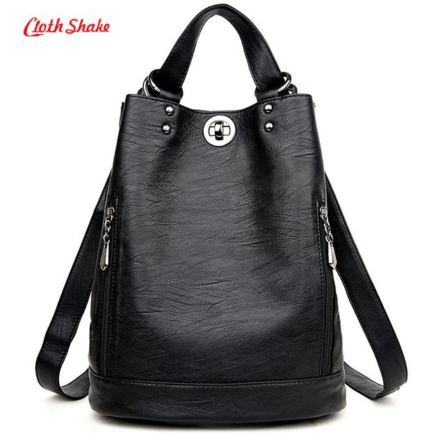 c785601d79 2017 New Fashion Women Female PU Leather Women s Bucket Bag ...