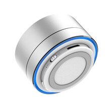 VTIN Bluetooth Speaker Portable Wireless Mini Round Box Loudspeaker Metal Steel Music Speaker 3 Colors for Cellphones PC Tablets
