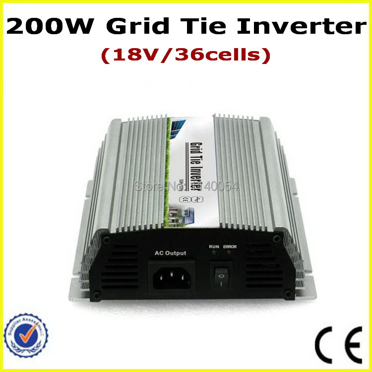 200W Grid Tie Micro Inverter, 10.5-28VDC to AC90-140V or 190-260V On Grid Tie Power Inverter 200W, 100% Quality Certification solar power on grid tie mini 300w inverter with mppt funciton dc 10 8 30v input to ac output no extra shipping fee
