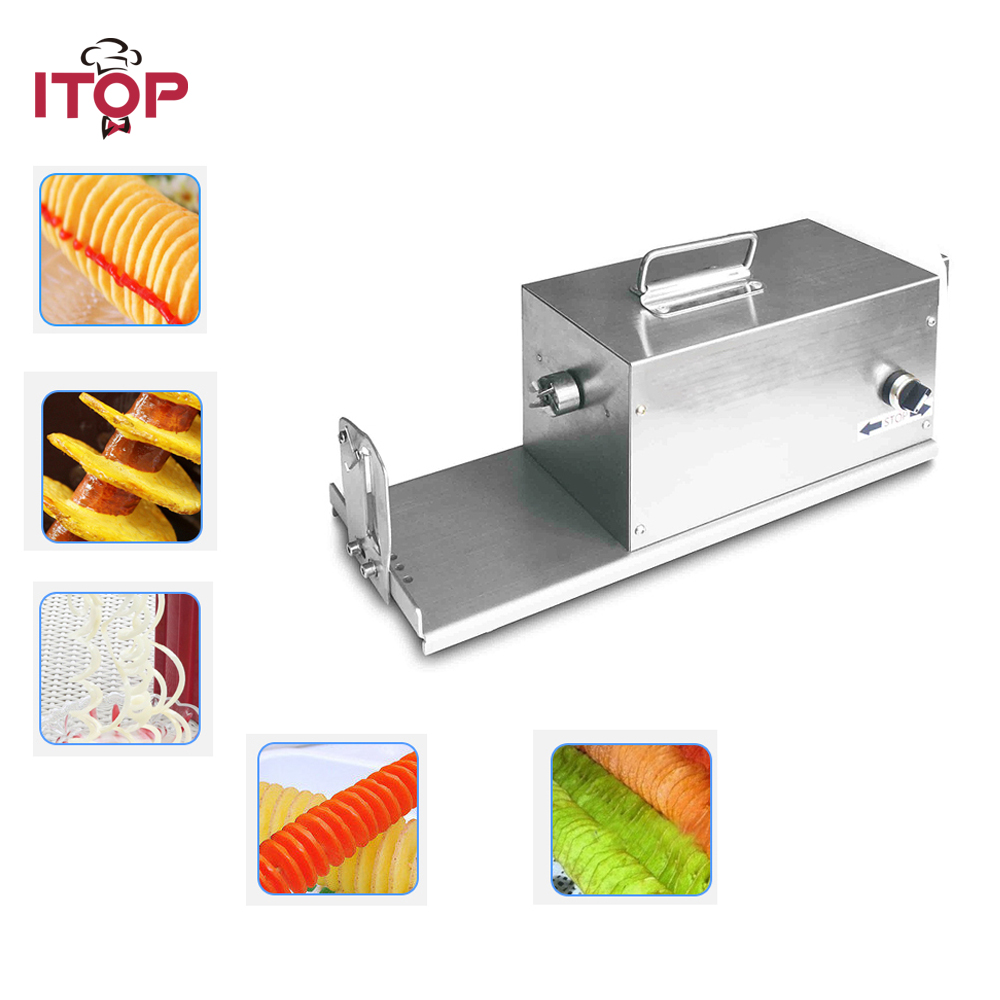 ITOP 40W Electric Tornado Slicer Stainless Steel Spiral Potato Cutter Twister Spiral Automatic Cutter Machine Potato Slicer 220v 12l electric deep fryer for spiral potato twister potato tornado potato fry potato churros chicken