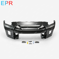 For Nissan GTR R35 CBA DBA LBV2 Style Glass Fiber Front Bumper(Without DRL) Body Kit Tuning Part For R35 GTR Fiberglass Bumper