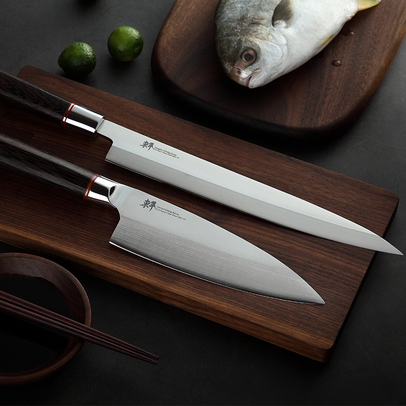 Japanese  Sashimi Knife Yanagiba Filleting Knives Sushi Germany Imports 70Cr15MoV Steel Cleaver Salmon Petty Slicing Peeling