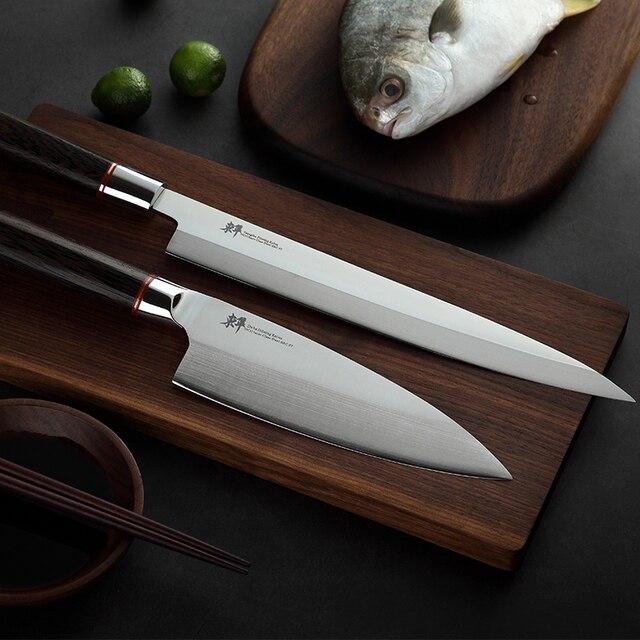 日本刺身ナイフ柳葉フィレットナイフ寿司ドイツ輸入 70Cr15MoV 鋼包丁サーモンささいなスライス剥離