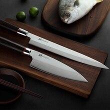 Giapponese sashimi coltello Yanagiba Sfilettatura Coltelli Sushi Germania importazioni 70Cr15MoV acciaio inox Mannaia Salmone Piccola Affettare Peeling