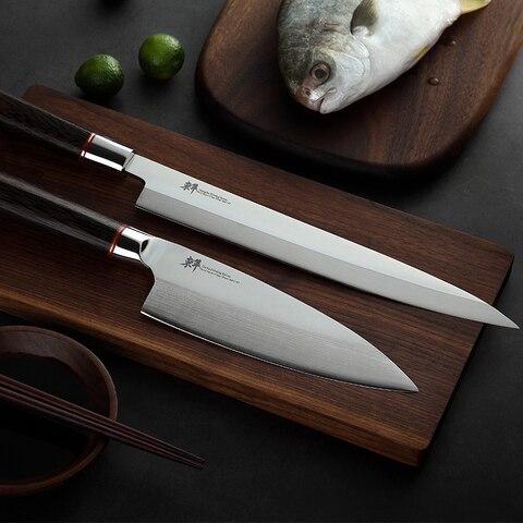 Cutelo de Aço Japonês Sushi Yanagiba Sashimi Faca Filetagem Facas Alemanha Importações 70cr15mov Salmão Pequeno Corte da Casca