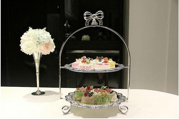 ยุโรปชุบเงินยืนเค้กแต่งงานเค้กแต่งงานจานตกแต่งอุปกรณ์เค้กแต่งงานt opper DGP001-ใน ขาตั้ง จาก บ้านและสวน บน   1