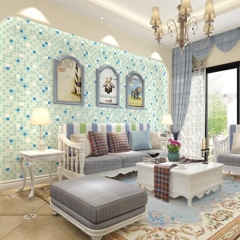 цены Free Shipping Modern minimalist mosaic TV background wallpaper bathroom hotel bathroom kitchen living room wallpaper