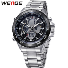 цены Hot Sale WEIDE Military Sport Watch Men Round Case Digital Quartz Movement LED 30m Waterproof Man Wristwatch Relogios Maculinos