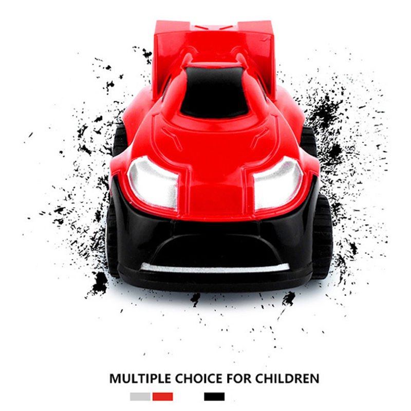 KAWO Kids Car Toys Inertia Stunt Car Rotated 360 Degrees Upright Pull Back Funny Car Toy Child Gift Plastic Inertia Car Boys Toy